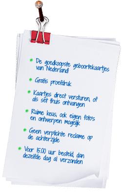 Iets Nieuws Tekst voor in je geboortekaartje - Geboortepost.nl #VS58